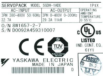 New Refurbished Exchange Repair  Yaskawa Drives-AC Servo SGDH-1ADE Precision Zone