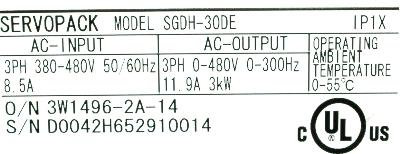 New Refurbished Exchange Repair  Yaskawa Drives-AC Servo SGDH-30DE Precision Zone