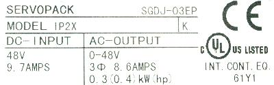 New Refurbished Exchange Repair  Yaskawa Drives-AC Servo SGDJ-03EP Precision Zone