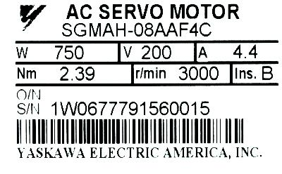 New Refurbished Exchange Repair  Yaskawa Motors-AC Servo SGMAH-08AAF4C Precision Zone