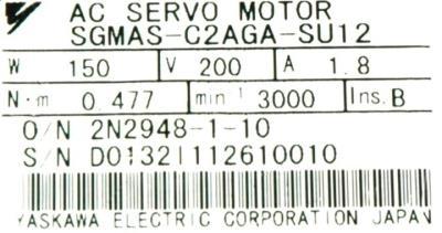 New Refurbished Exchange Repair  Yaskawa Motors-AC Servo SGMAS-C2AGA-SU12 Precision Zone