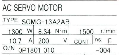 New Refurbished Exchange Repair  Yaskawa Motors-AC Servo SGMG-13A2AB Precision Zone