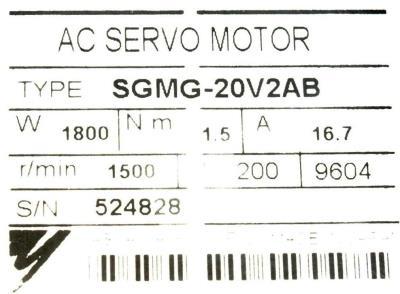 New Refurbished Exchange Repair  Yaskawa Motors-AC Servo SGMG-20V2AB Precision Zone