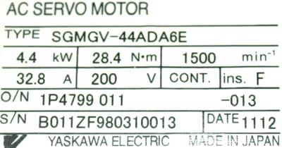 New Refurbished Exchange Repair  Yaskawa Motors-AC Servo SGMGV-44ADA6E Precision Zone