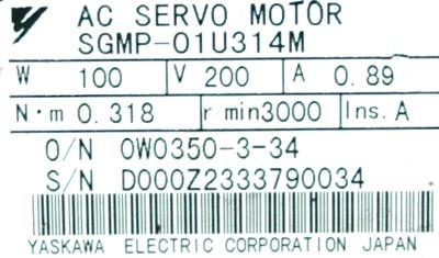 New Refurbished Exchange Repair  Yaskawa Motors-AC Servo SGMP-01U314M Precision Zone