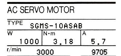 New Refurbished Exchange Repair  Yaskawa Motors-AC Servo SGMS-10ASAB Precision Zone