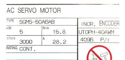 New Refurbished Exchange Repair  Yaskawa Motors-AC Servo SGMS-50A6AB Precision Zone