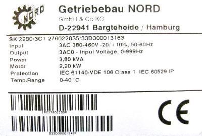 New Refurbished Exchange Repair  Nord Inverter-General Purpose SK2200-3CT Precision Zone