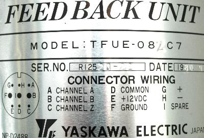 New Refurbished Exchange Repair  Yaskawa Feedback units TFUE-08ZC7 Precision Zone