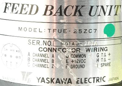 New Refurbished Exchange Repair  Yaskawa Feedback units TFUE-25ZC7 Precision Zone