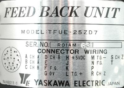 New Refurbished Exchange Repair  Yaskawa Feedback units TFUE-25ZD7 Precision Zone