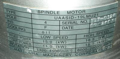 New Refurbished Exchange Repair  Yaskawa Motors-AC Spindle UAASID-19LMU21 Precision Zone