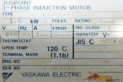 New Refurbished Exchange Repair  Yaskawa Motors-AC Servo UAJPEA-15BJ20 Precision Zone