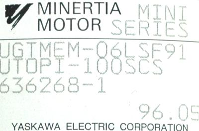 New Refurbished Exchange Repair  Yaskawa Motors-DC Servo UGTMEM-06LSF91 Precision Zone