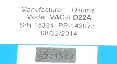 New Refurbished Exchange Repair  Okuma Drives-AC Spindle VAC-II D22A Precision Zone